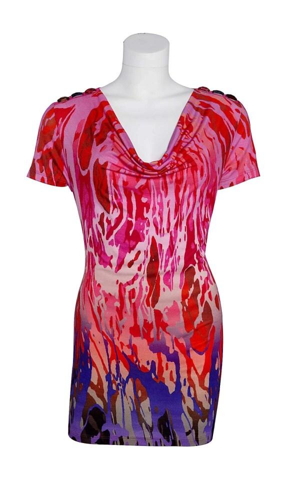 566.284 APART Damen Designer-Shirt m. Steinen Pink-Rot-lila