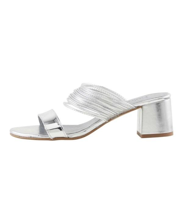 143.770 HEINE Damen Designer-Pantolette Silberfarben