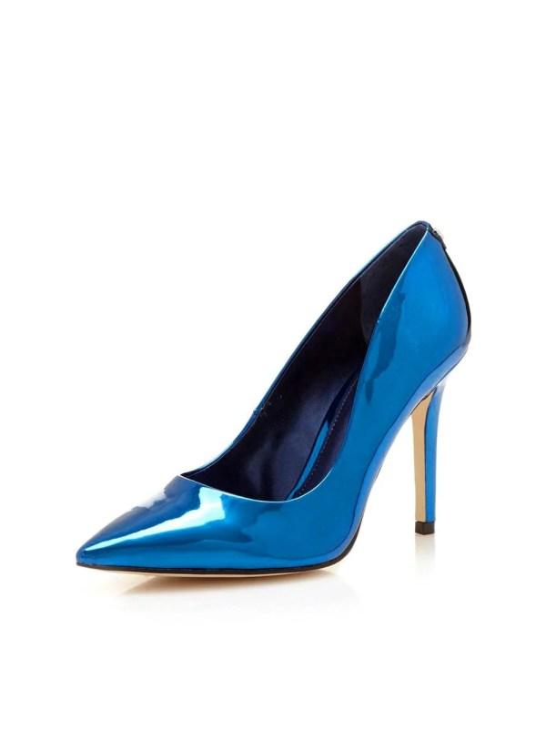 382.295 GUESS Damen Marken-Pumps Blau-Metallic