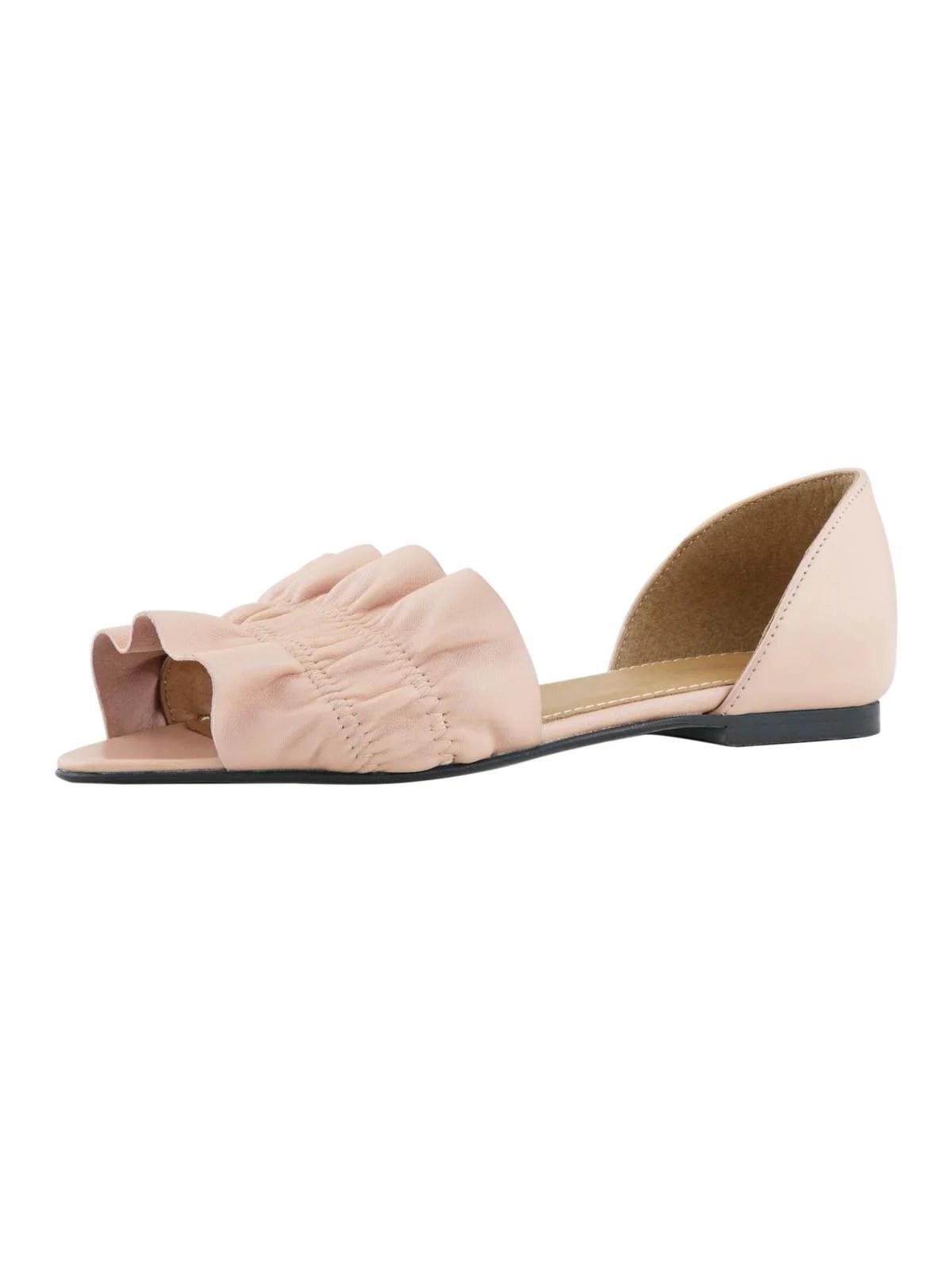 507.862 HEINE Damen Designer-Peeptoe-Ballerina Rosé
