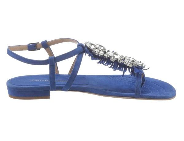 649.062 Velourslederdianette m. Strass, blau von Guido Maria Kretschmer Grösse 36