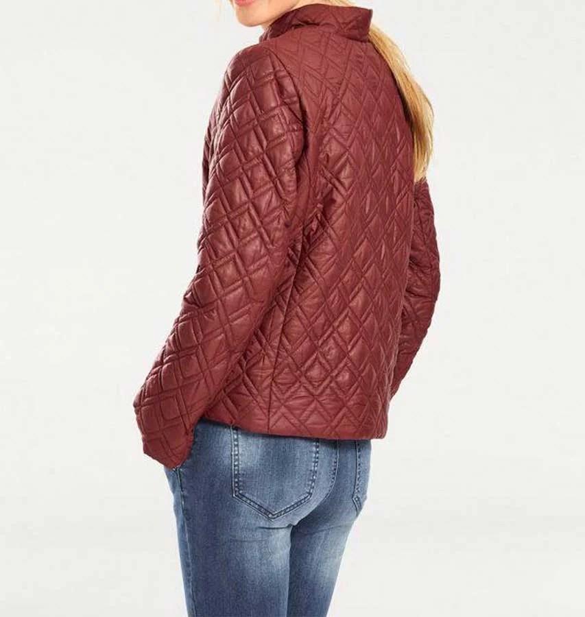 jacken auf rechnung bestellen als neukunde HEINE Damen-Steppjacke Jacke Gesteppt Muster Rost Rot Best Connections 002.929 MISSFORTY