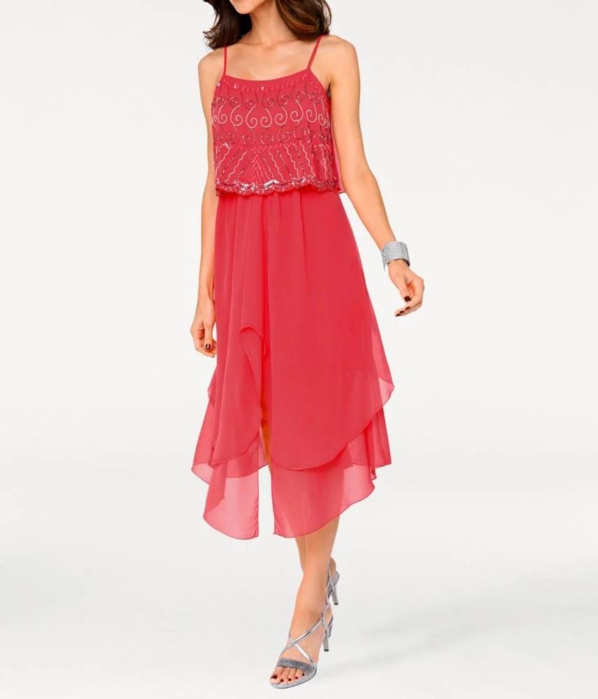 kurzes kleid für besondere anlässe ASHLEY BROOKE Damen Designer-Cocktailkleid Koralle 005.255 Missforty