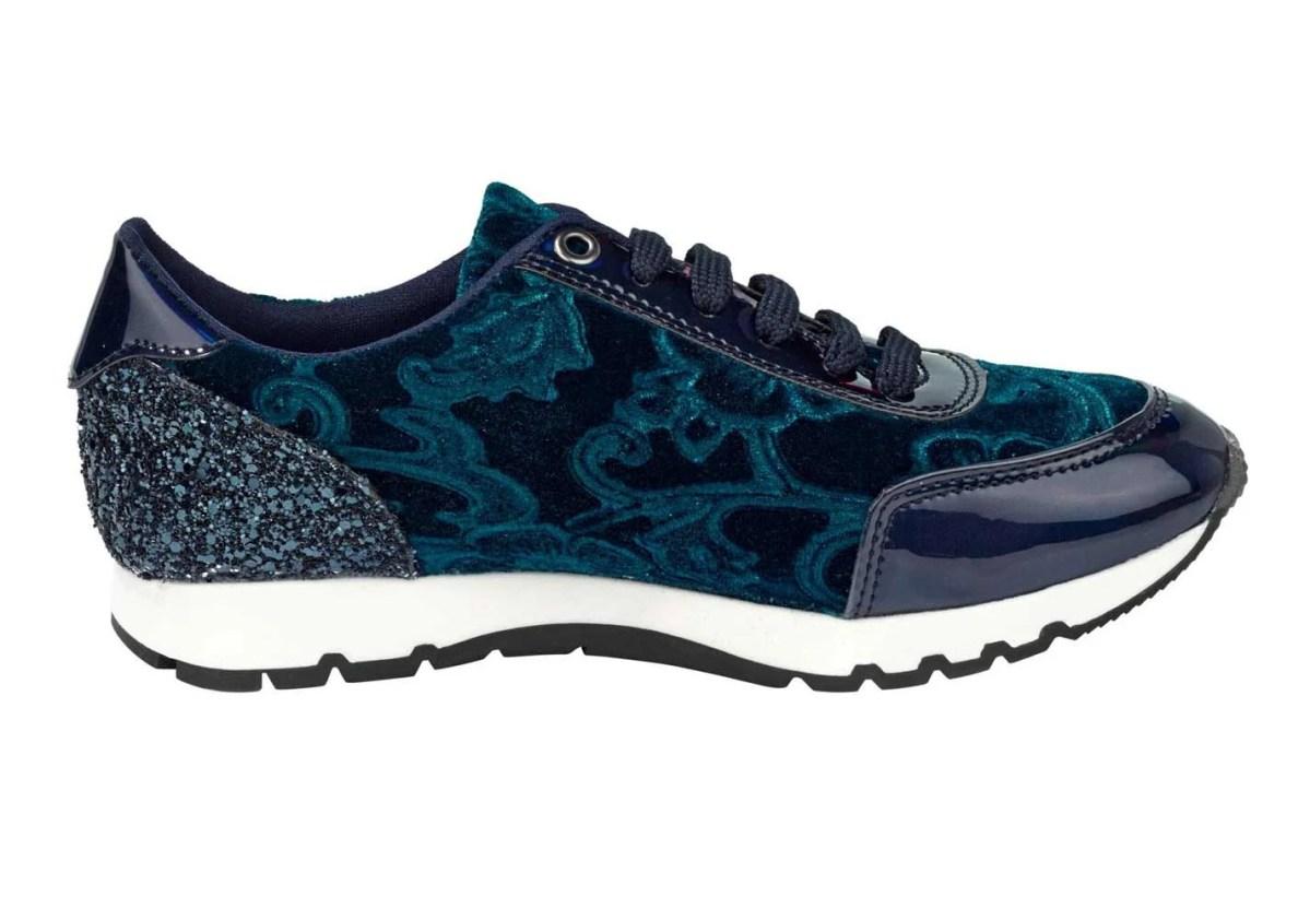 bequeme Schuhe HEINE Damen-Samt-Sneaker, marine 016.928 Missforty.
