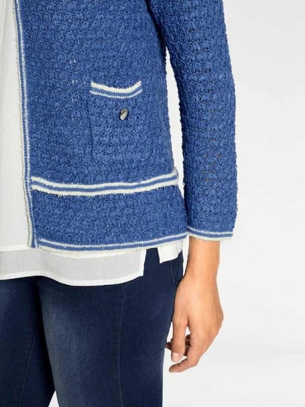 026.215 Damen Strickjacke neu Damen Cardigan Pullover blau Blazer Jacke