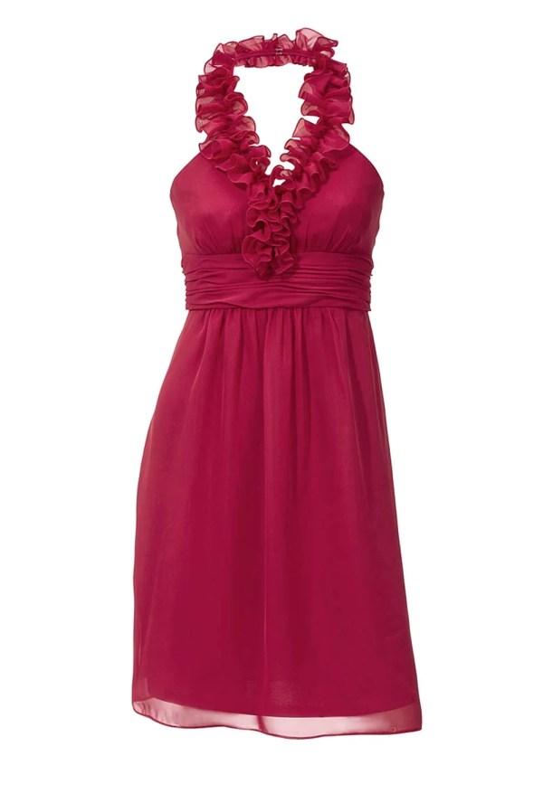 kurzes kleid für besondere anlässe Chiffon-Cocktailkleid, rot von Ashley Brooke event Grösse 42 037.970 Missforty