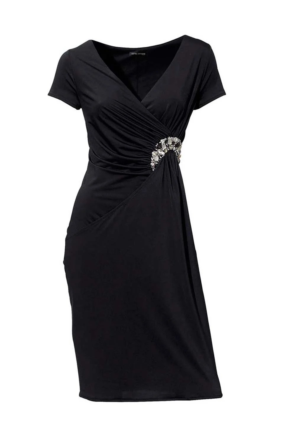 kurzes kleid für besondere anlässe HEINE Damen Designer-Cocktailkleid m. Strass Schwarz 041.427 Missforty