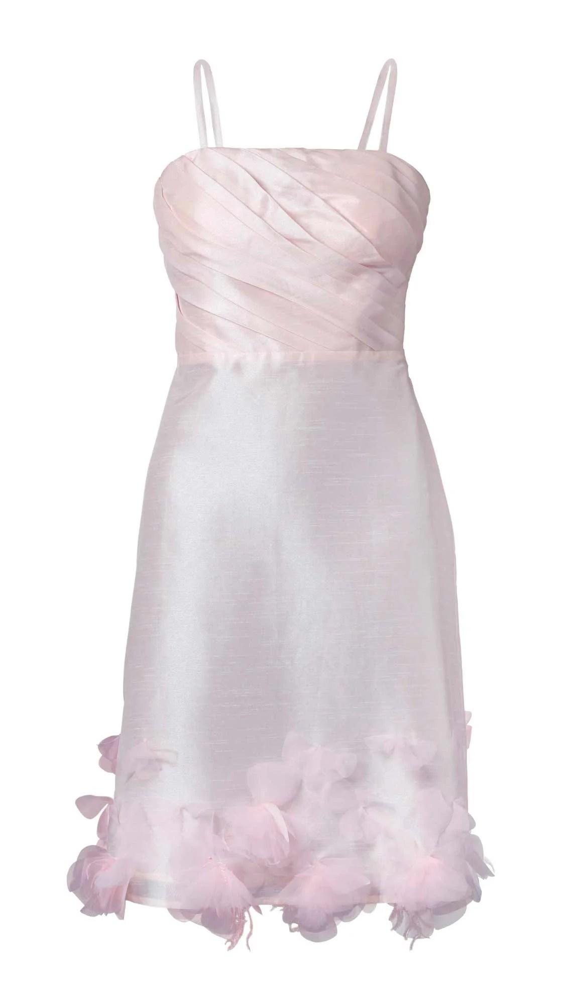 kurzes kleid für besondere anlässe APART Damen Designer-Taftkleid m. Blüten Puder 041.791 Missforty