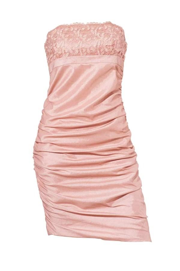kurzes kleid für besondere anlässe Cocktailkleid, rosé von Ashley Brooke event Grösse 44 052.588 Missforty