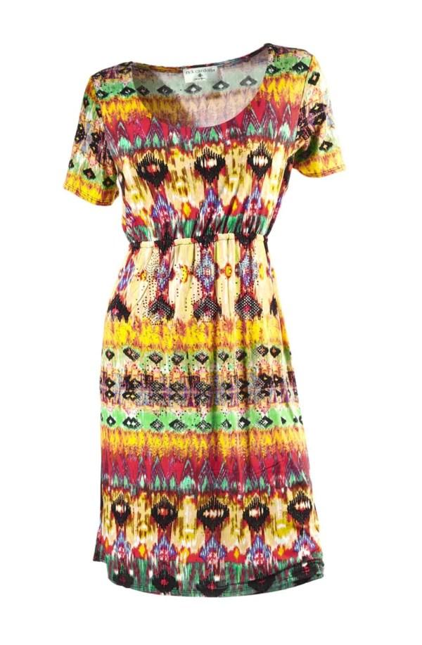 065.663 RICK CARDONA Damen Kleid mit Strass Bunt