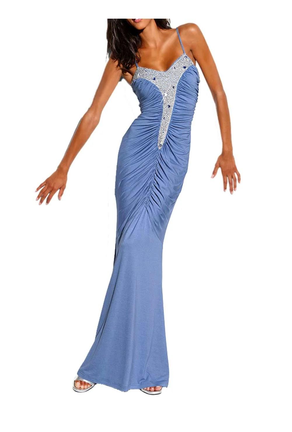 Festmoden Abendkleid blau von Carry Allen by Ella Singh Grösse 42 067.894 Missforty