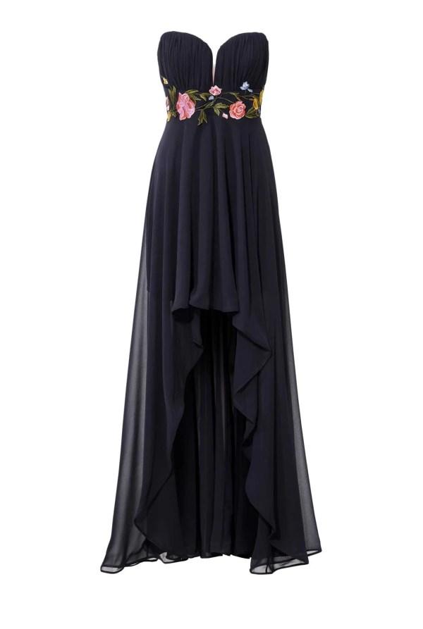 Festmoden ASHLEY BROOKE Damen Designer-Abendkleid m. Stickerei Marine 080.597 Missforty
