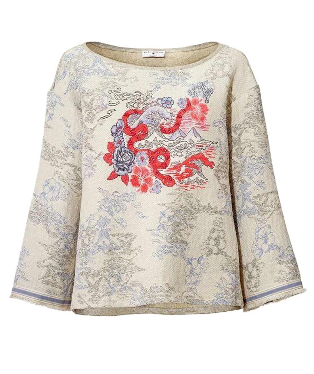 t shirts ohne ärmel RICK CARDONA Damen Designer-Sweatshirt Bunt 080.978 Missforty