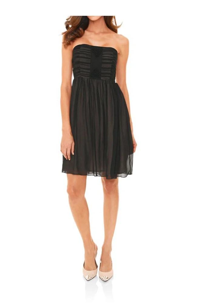 kurzes kleid für besondere anlässe Chiffon-Cocktailkleid, schwarz von Ashley Brooke event Grösse 40 093.472 Missforty