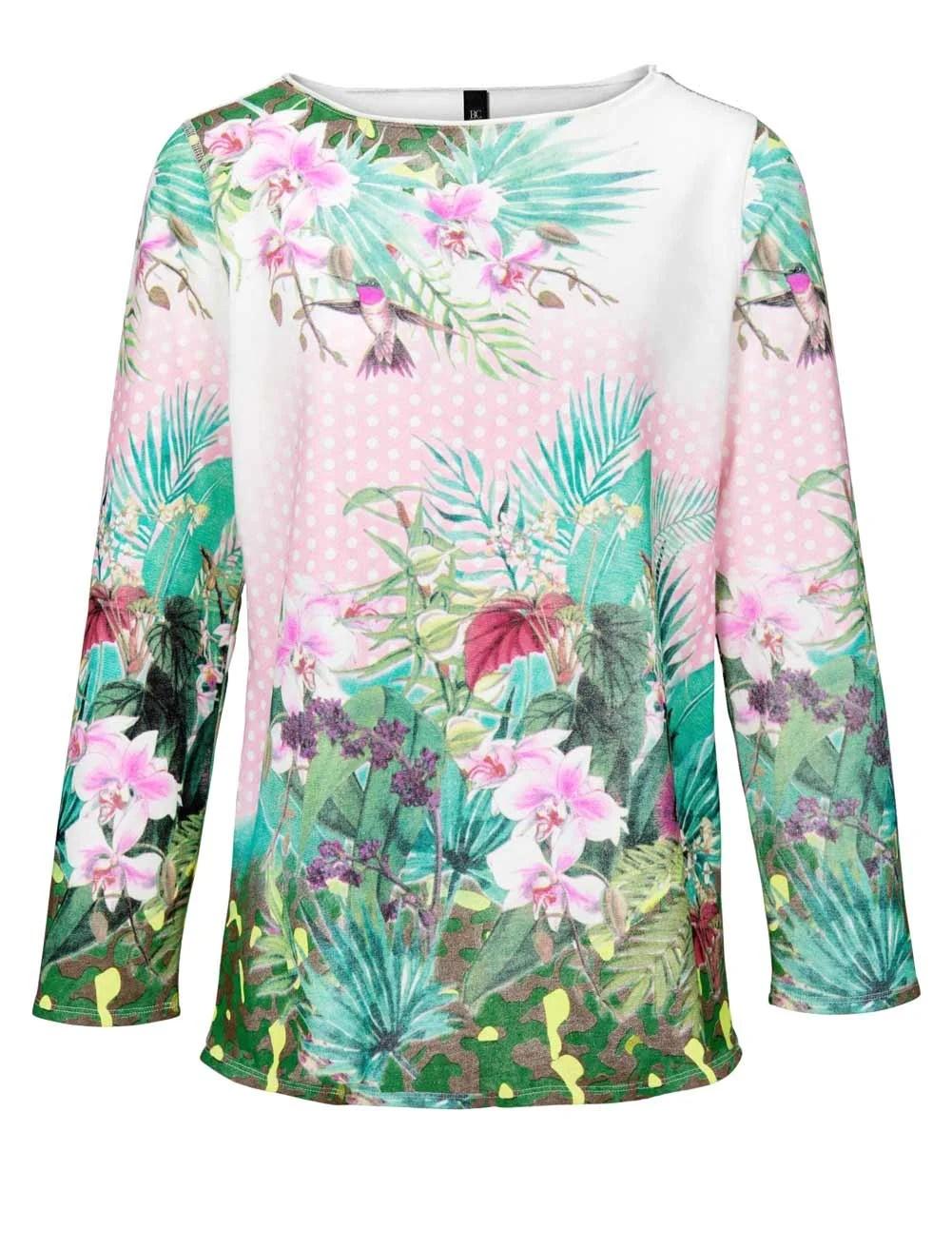 t shirts ohne ärmel HEINE Damen Designer-Wende-Sweatshirt Bunt 339.965 Missforty