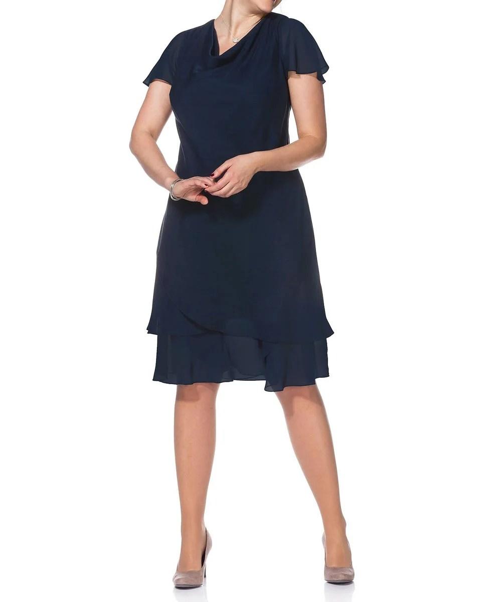 kurzes kleid für besondere anlässe SHEEGO Damen-Abendkleid Marine 391.328 Missforty