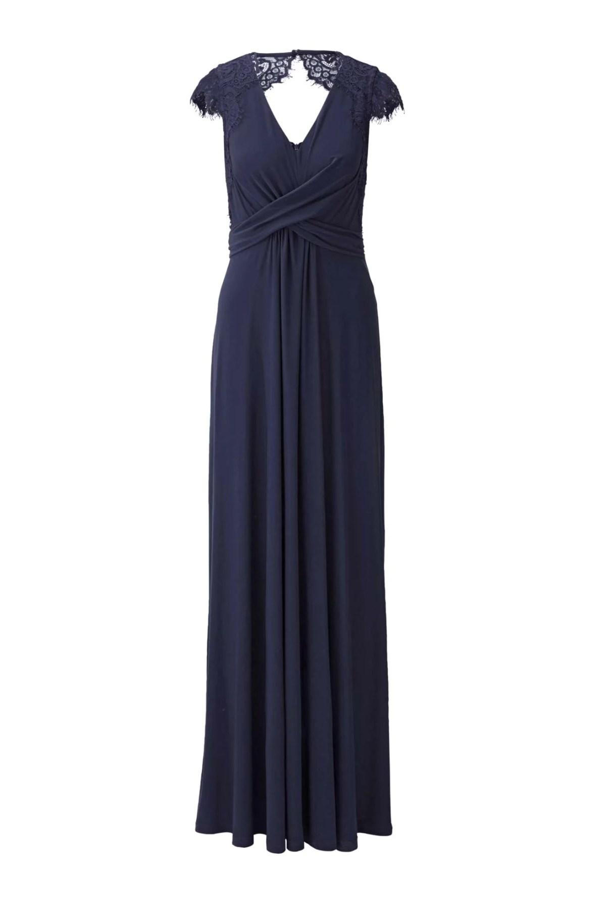 Festmoden HEINE Damen Designer-Abendkleid m. Spitze Nachtblau 424.627 Missforty