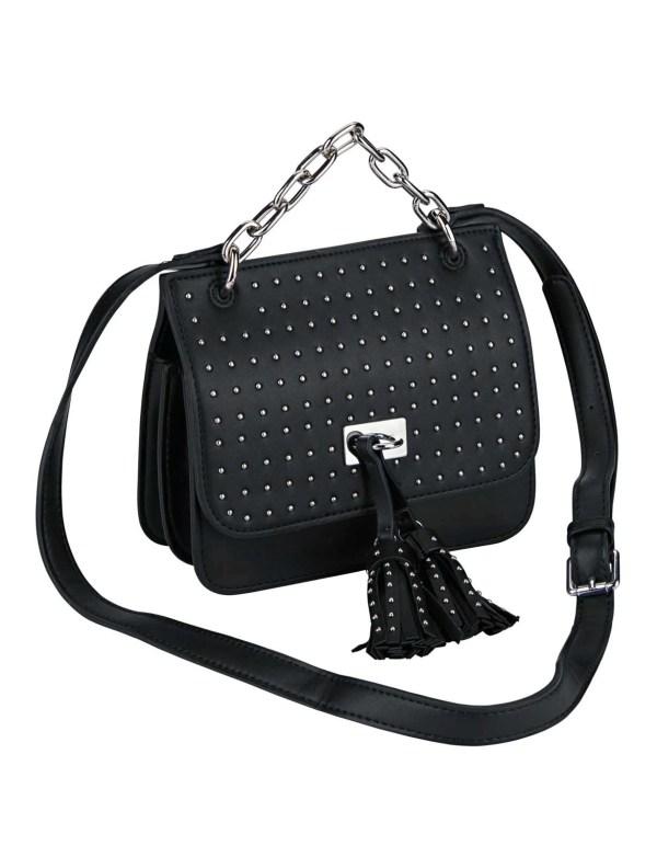 430.894 Handtasche m. Nieten, schwarz von HEINE Grösse 0