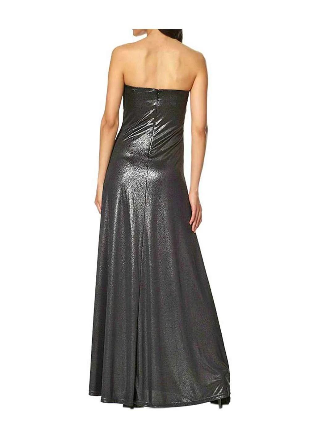 Festmoden Abendkleid, schwarz-metallic von Laura Scott Evening Grösse 32 475.706 Missforty