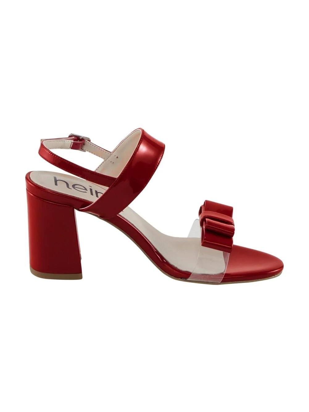 477.506 Lack-Sandalette, rot von HEINE Grösse 35