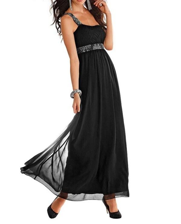 Festmoden Abendkleid m. Perlen, schwarz von Laura Scott Evening Grösse 36 521.771 Missforty