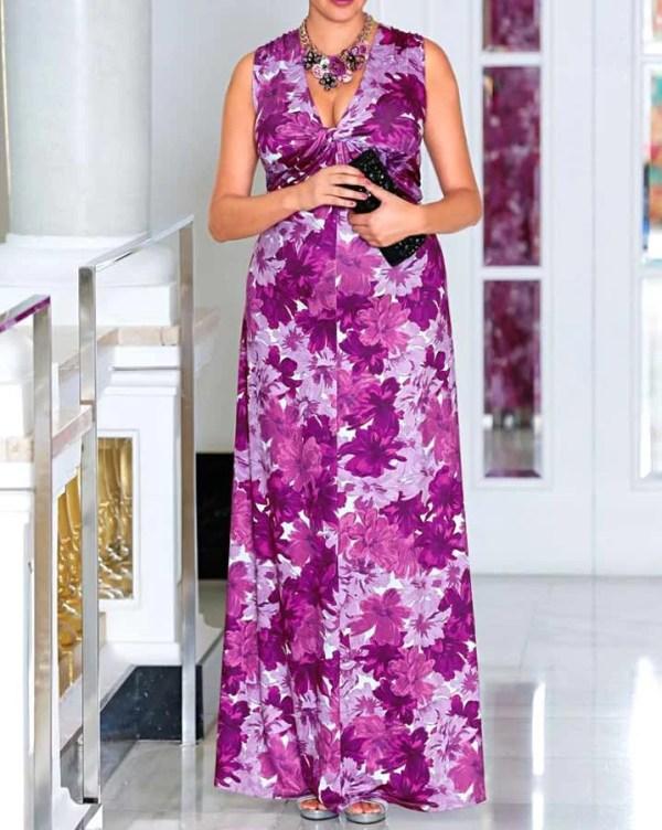 Festmoden SHEEGO Damen-Abendkleid Rosa-Lila 619.943 Missforty