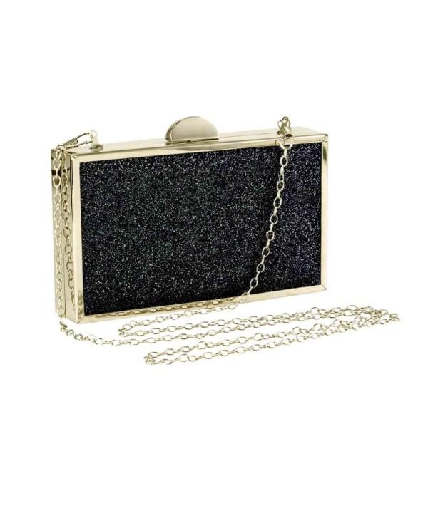 welche tasche zum abendkleid HEINE Damen Designer-Clutch Schwarz-Gold 635.926 Missforty