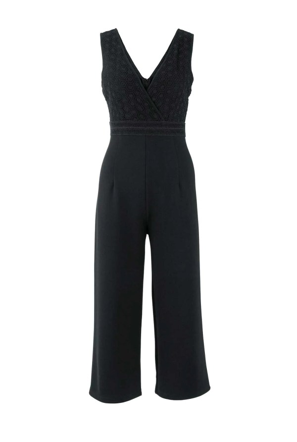 wadenlange kleider für besondere anlässe Damen Jumpsuit Elegant Schwarz Lang Einteiler Sommer Hosenanzug von Heine 669.727 missforty