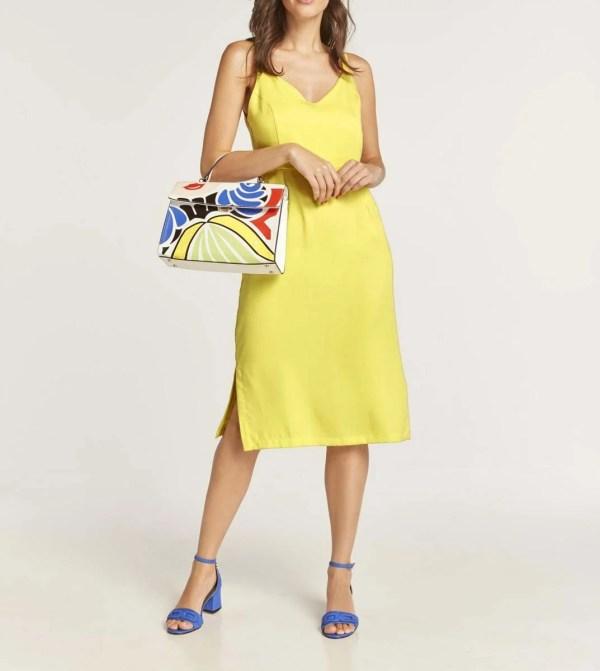 wadenlange kleider für besondere anlässe HEINE Damen Designer-Kleid Lemongelb 785.382 missforty
