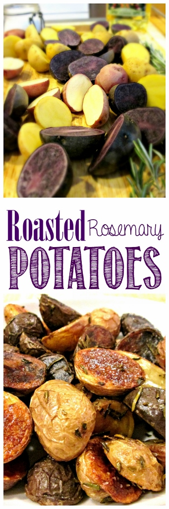 Easy Beginner Roasted Rosemary Potatoes | missfrugalfancypants.com