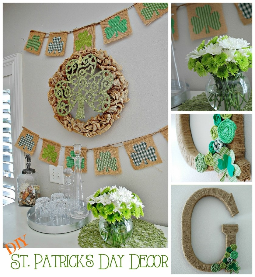 St. Patricks Day DIY Decor Ideas with Fabric & Burlap | missfrugalfancypants.com