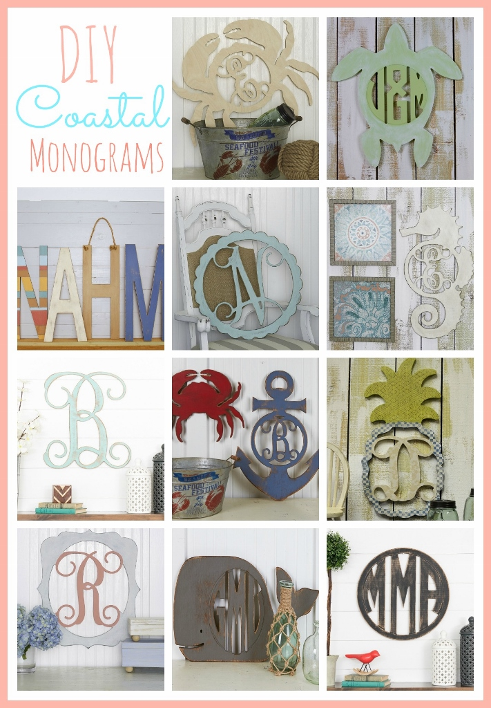 DIY Coastal Monograms | missfrugalfancypants.com
