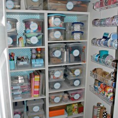 An Organized Craft Closet