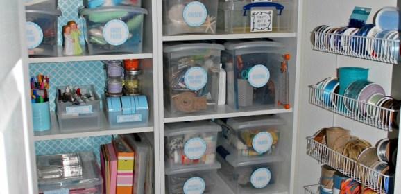 An Organized Craft Closet