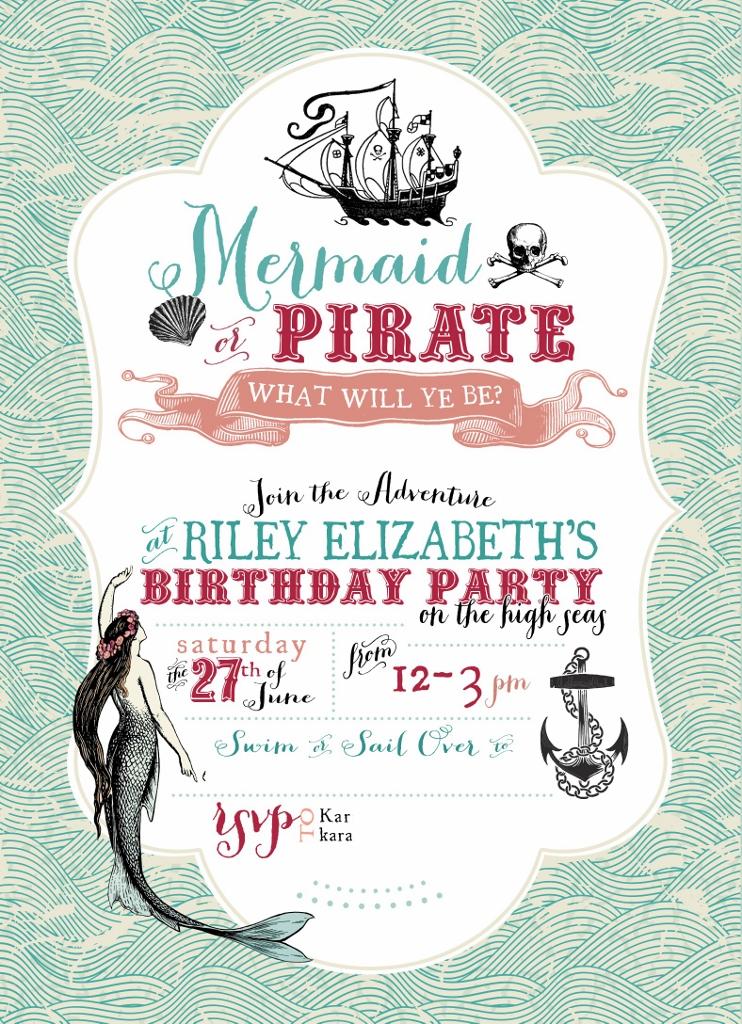 Pirate Party Invitation | missfrugalfancypants.com