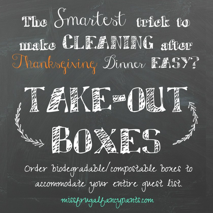 The Single Best Piece of Advice for Thanksgiving Dinner Clean Up and Other Helpful Tips | missfrugalfancypants.com