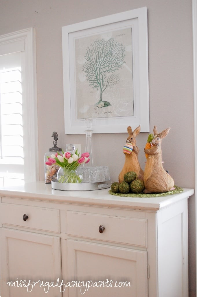 SImple Easter Decor | missfrugalfancypants.com
