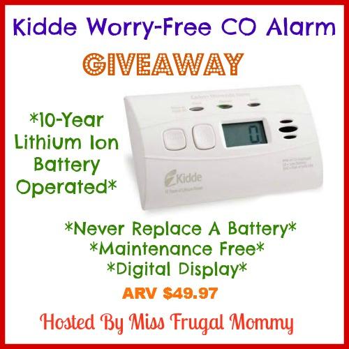 Kidde Worry-Free Co Alarm Giveaway