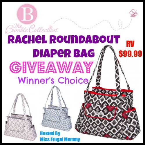 Rachel Roundabout Diaper Bag Giveaway (Winner's Choice)