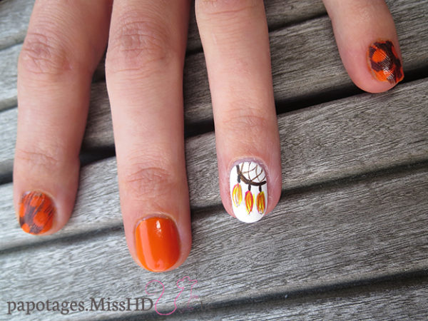 Nail art dreamcatcher