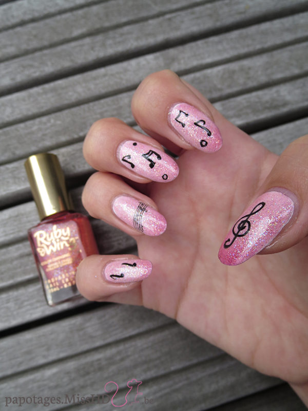 Nail art Water Decal musique