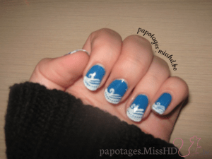 French manucure en stamping