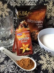 Zutaten für gebrannte Mandeln
