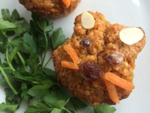 Osterhasen Muffins aus Rübliteig