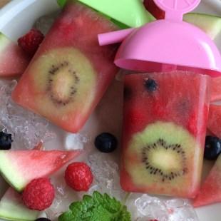 Wassereis hausgemacht gesund zuckerfrei