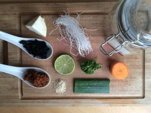 Zutaten Suppe im Glas gesund vegan Miso