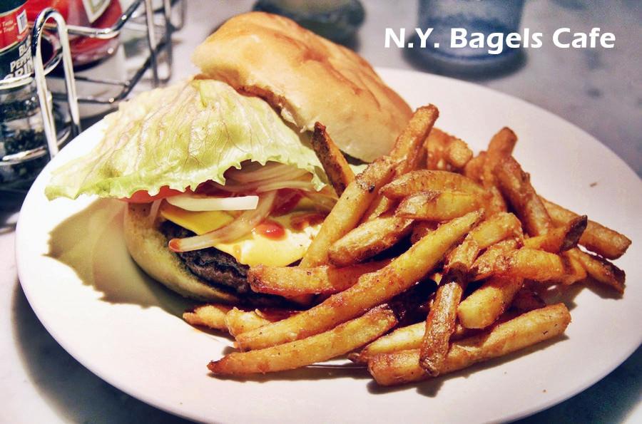 捷運台北車站美食   N.Y. Bagels Cafe 京站美食 下午茶 早餐 宵夜 聚餐聚會