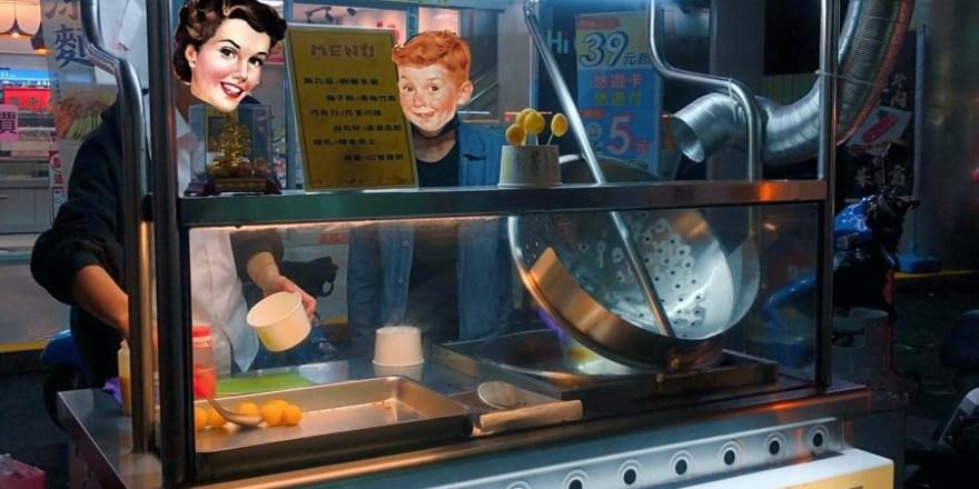 台中南區美食【HIGH炸地瓜球】台農57號純天然地瓜手工製作!忠孝路夜市小吃新品牌!創意口味多!