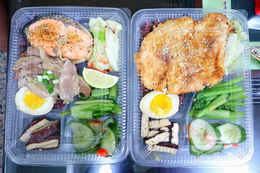 台中西區美食【約翰煮的/氣炸廚房】低脂健康餐盒!卡路里都幫你算好了!
