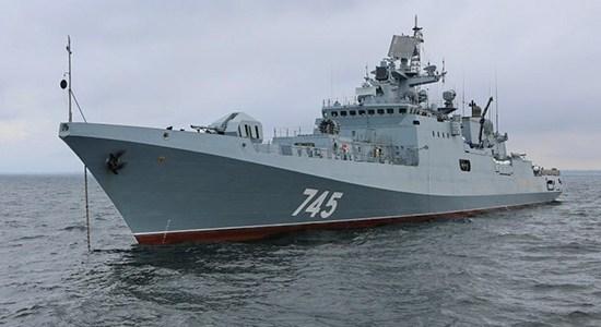 Russian Frigate Test Fires Kalibr Missile